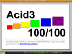 Uzbl browser passed ACID3 test