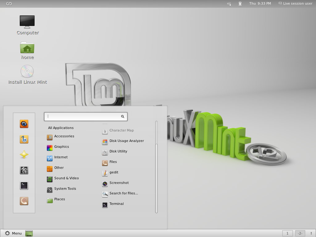 Using the terminal to add Gnome Games to the Linux Mint 12 Live CD