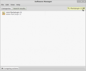 Type mint-flashplugin-11 into Software Manager